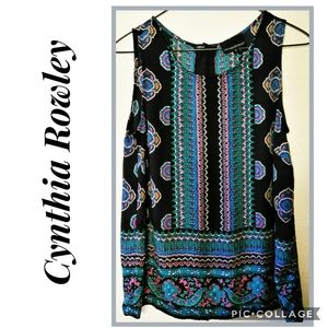 CYNTHIA ROWLEY Tank Top Blouse Size Small